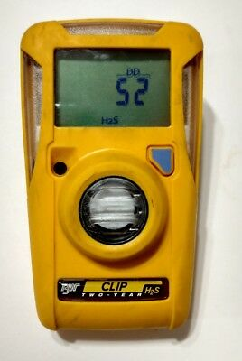 BW Technologies BW Clip BWC2-H Single Gas H2S Monitor OVER ONE MONTH REMAINING