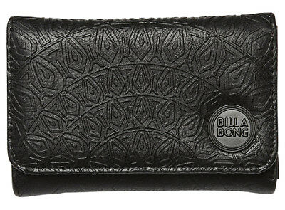 New +Tag Billabong Moonstruck Ladies / Girls Tri-Fold Wallet / Purse Black Women
