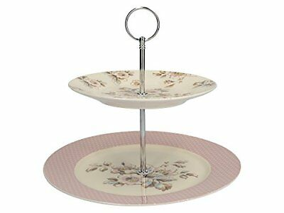 Creative Tops Katie Alice - Vintage Inspired Two Tier Cottage Flower Cake Stand