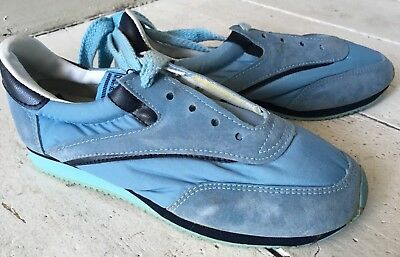 Vintage Retro Sporto Boys Girls Womens Unisex Lo Top Trainers Shoes Size 4 Blue