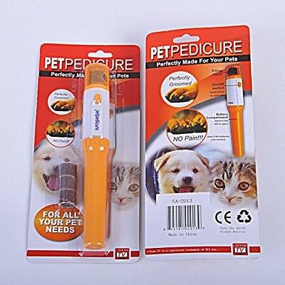 Pet Dog Cat Nail Trimmer Grooming Tool Care Grinder Electric Clipper Kit