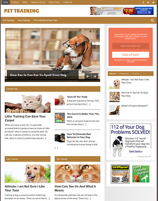 PET TRAINING - Fully Featured Niche Business Website For Sale - Newbie Friendly