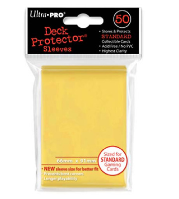 Ultra Pro Gaming & MTG Sleeves Deck Protector YELLOW Standard Size 50 Count Pack