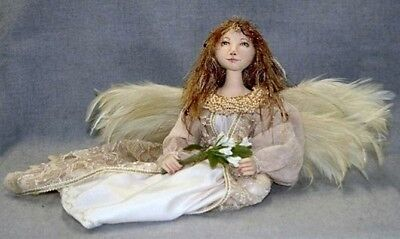 """*new* Cloth Art Doll (Paper) Pattern """"seated Angel"""" By Judy Skeel"""