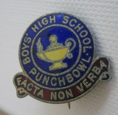 Vintage HOMEBUSH BOYS' HIGH SCHOOL Enamel PIN