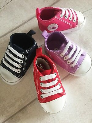 Baby Girls Boys Canvas Shoes Baby Sneakers Trainers Pram Shoes Boots
