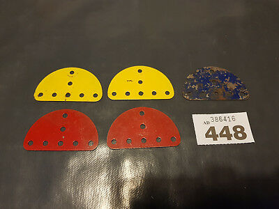Vintage meccano Semi-Circular Plate part number 214 x5 (3448)