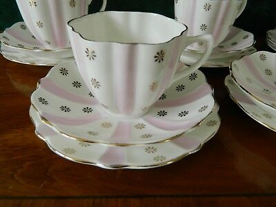 Pretty Marie Productions 16 Piece Tea Set - Pink And Gold