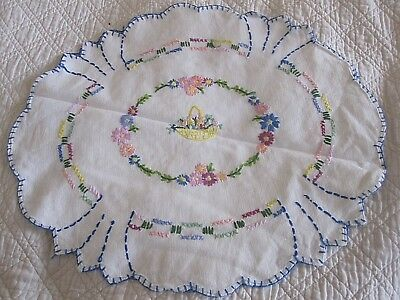Lovely Vintage Hand Embroidered Cotton Cushion Cover