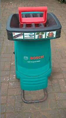 Bosch AXT Rapid 2000 Garden Shredder 240V EXCELLENT  CONDITION