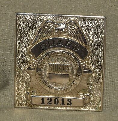 Burns Guard International Security Services Badge Obsolete