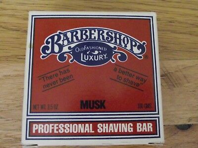 1976 Barbershops Professional Shaving Bar Musk 3.5 Oz