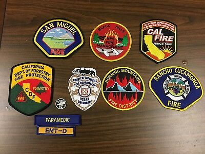10 California   Fire Related Patches  Super Lot