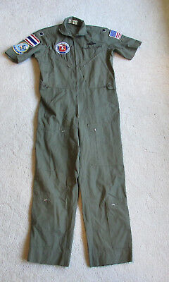 War Time Vietnam Era Party or Casual Flight Suit Udorn Thailand Cricket ABCCC