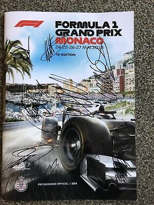 2018 Monaco F1 Program Signed By 53 Drivers And Bosses