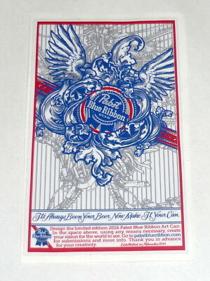 Pabst Blue Ribbon Beer PBR ART Limited Edition Sticker Decal Unique Can Artwork