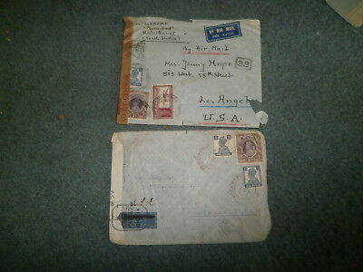 India Wwii Censor Cover Lot