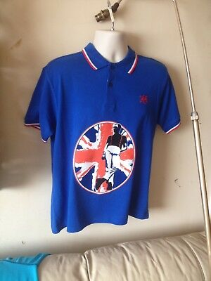 Men's 1960s warrior Mod skinhead Polo Shirt large