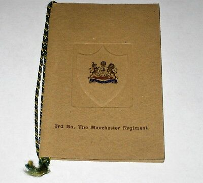 WW1 1917 Xmas Card 3rd BN. THE MANCHESTER REGIMENT