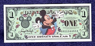 2000 Disney Dollar - $1 Mickey Mouse