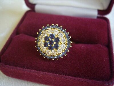 Vintage Camrose & Kross Jacqueline Kennedy  Sapphire Diamond Reproduction Ring