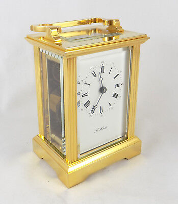 Excellent L'epee 8 Day Carriage Clock - F. Hinds - Fully Cleaned And Serviced