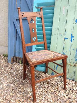 Antique Glasgow School Arts And Crafts Oak High Back Hall Chair Dining Liberty's
