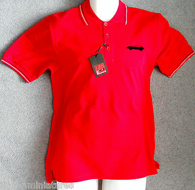 Jaguar E Type Mens Polo Shirt Red Official Licensed Product XL New c/w Tags