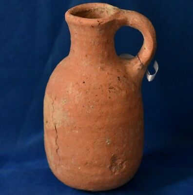 Holy Land Judaea Iron Age Circa 8 Cen. Bc Terracotta Clay Juglet, Temple Times.