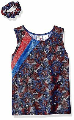 Jacques Moret Active Girl Fun Stars Gymnastics Tank Size X-Small 4/5 New Nwt