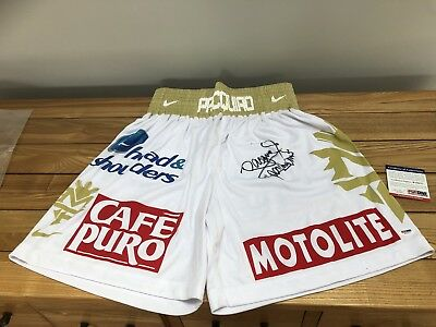 manny pacquiao signed Shorts PSA/DNA