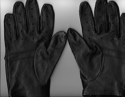 Black Leather Driving Gloves Size Large (Used)