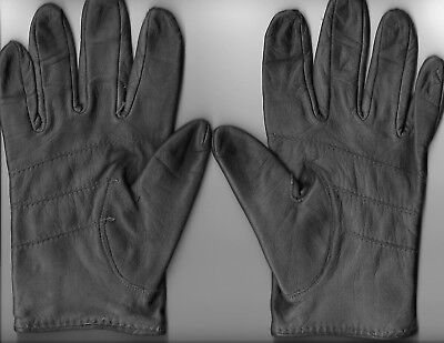 Gray Leather Driving Gloves Size Large (Used)
