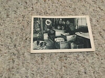 1900s French postcard of a cabin in Alaska 396
