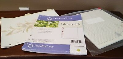 Brand New Pack Of Franklin Covey Blooms 50 Monarch Size Cutaway Sheets Plus More