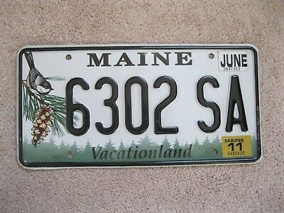 2011 Maine Chickadee License Plate 6302 SA - Vacationland