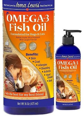 Ultra Premium Omega 3 Fish Oil  for Dogs, Cats, Rabbits, 16oz Pump