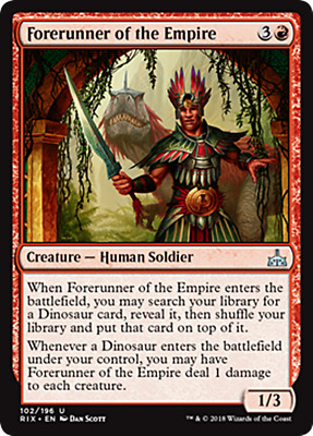 4 FORERUNNER OF THE EMPIRE ~mtg NM Rivals of Ixalan Unc x4
