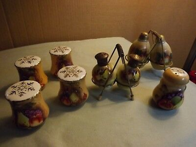 Lot of 9 Vintage Lefton and Unmarked Hand Painted Salt & Pepper Shakers