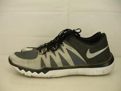 c6943fb8be3f8 Nike Free Trainer 5.0 V6 AMP Super Bowl 50 Mens 13 Silver Black 723939-071