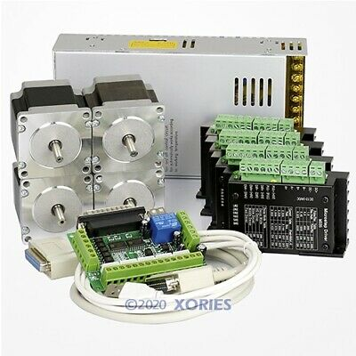 4 Axis CNC Controller Kit Nema23 Stepper Motor 175 Oz-in M335 Motor Driver 3.5A