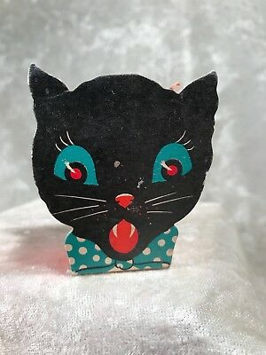 Vintage Dolly Toy Co. Halloween Black Cat Party Favor Candy Container