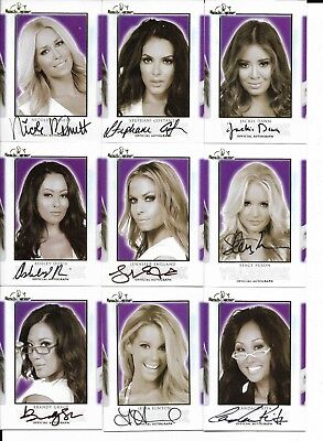 2018 Benchwarmer Hot For Teacher 18 Yearbook Autograph Card Lot-No Dups