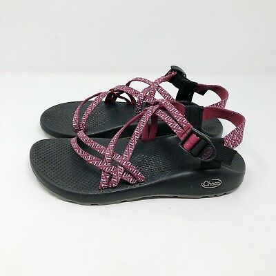 Womens Chaco Sandals Sz 10 Classic Double Strap Sport Outdoor Maroon Pink Summer