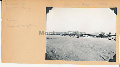 July-Aug 1944 USAAF 435th TCG 77th TCS base Tarquinia Italy Photo airplanes
