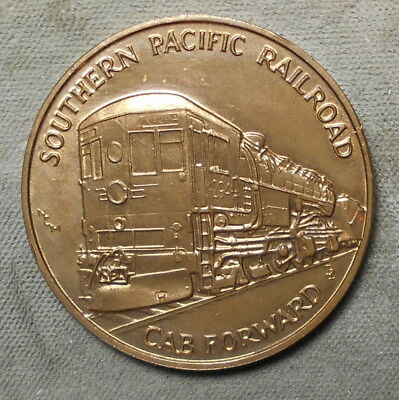 Southern Pacific Railroad Cab Forward Nevada County CA Donner Lake Medal