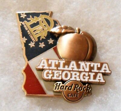 Hard Rock Cafe Atlanta Limited Edition 3D World Map Series Pin # 96003