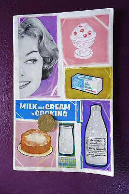 Vintage 1950S Recipe Book Milk And Cream In Cooking Dairy Farmers Co Op