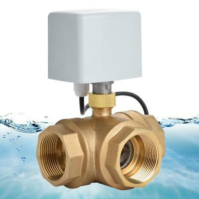 "Motorized Ball Valve 3 Way 3 Wire Electrical Valve DN40 G1-1/2"" AC 220 T Type"