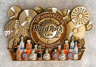 Hard Rock Cafe Boston 2018 29Th Anniversary Bar With Bottles Cymbals Pin # 99193